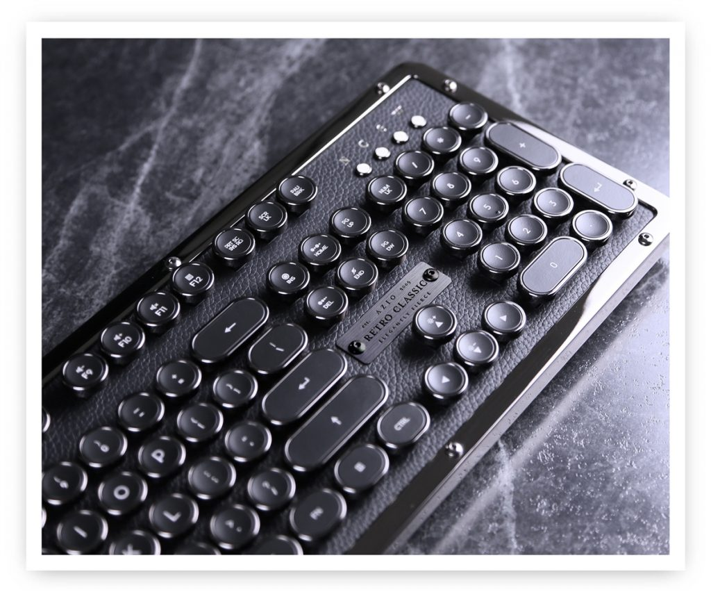 vintage typewriter usb keyboard onyx